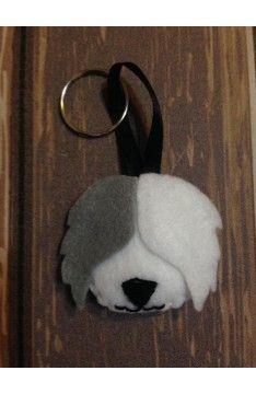 Llavero Ovejero Inglés Animal Felt Keychain