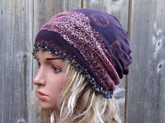 TAM LADIES Women Beanie Hat Mom Beanie Hat Cashmere knitwear Autumn Winter Fashion Hat Unique headdress Cool Tam Cap Boho Modern Hippie
