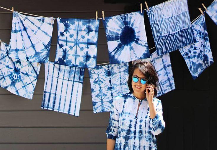 Tutorial para teñir ropa con la técnica japonesa Shibori. http://www.kireei.com/shibori-diy/