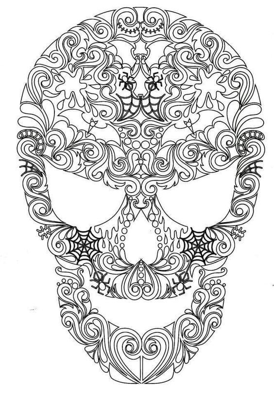 193 Best Coloring Skull Images On Pinterest