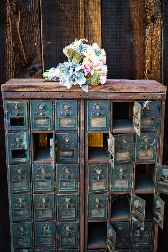 vintage post office boxes turned into storage - 36 Best Vintage & Cool Mailbox 's Images On Pinterest Mail Boxes