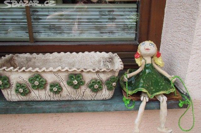 Nabízím keramické panenky, možnost různé barevné kombinace. - obrázek číslo 9