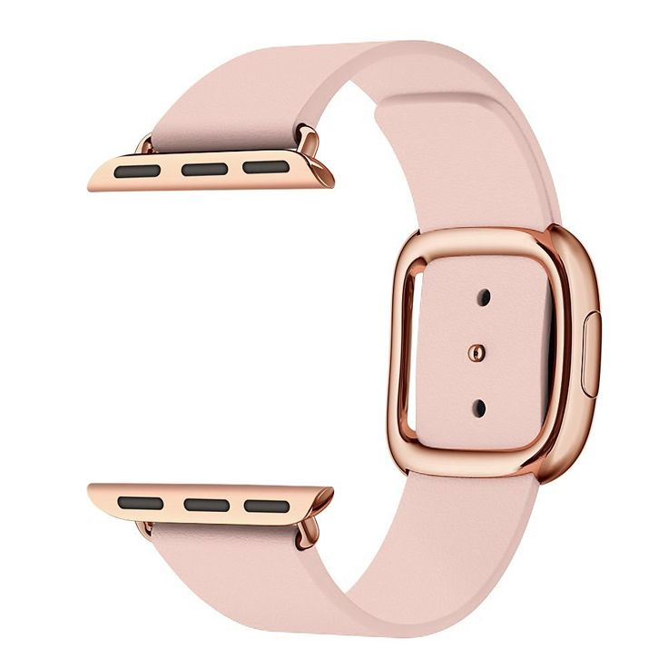 Amazon.com: Kartice for Apple Watch Band,Modern Buckle Genuine Leather Watch Band Strap Bracelet Wrist Band With Adapter Clasp Replacement for Apple Watch&Sport&Edition--38mm Pink strap Rose Gold Buckle: Cell Phones & Accessories