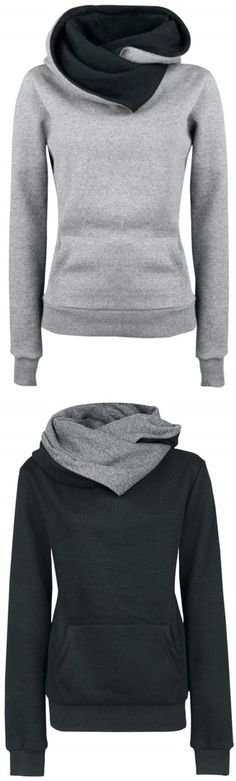 Women's Solid Color Long Sleeve Hooded Sweatshirt