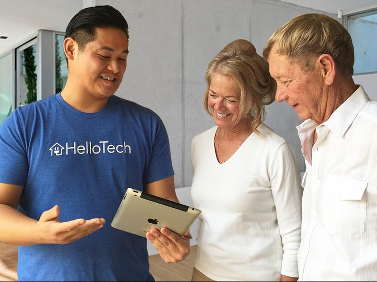 A HelloTech a company trying to get a sha re of Best Buys Geek Squad sales. Currently only located in L.A. area. $250 for a year subscription. $50.00 per house call depending on problem.