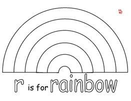 Bingo coloring pages and learning on pinterest for Rainbow templates to colour