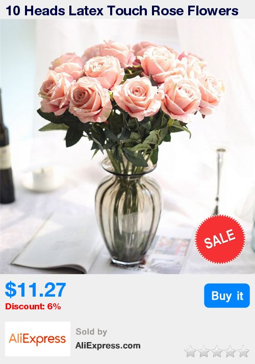 10 Heads Latex Touch Rose Flowers For wedding Party Home Design Bouquet Romantic Rosy Floral bush 10pcs/lot on sale * Pub Date: 03:13 Apr 11 2017