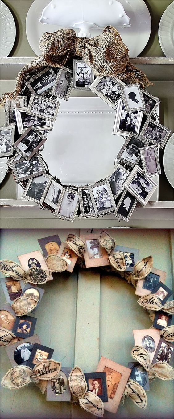 18 Incredible Christmas Gift Ideas for Family Members: 3. Picture Wreath