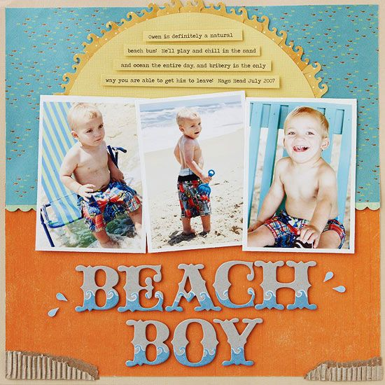 This Beach Boy Page is a cute idea for your summer scrapbook! #scraptbook #crafts