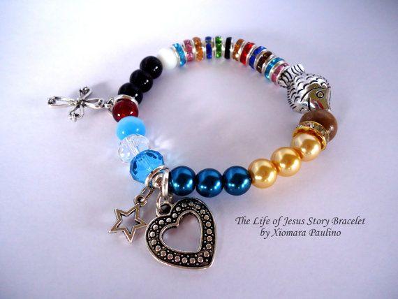 The Life Of Jesus Story Bracelet W Note Card Religious Bracelet Handmade