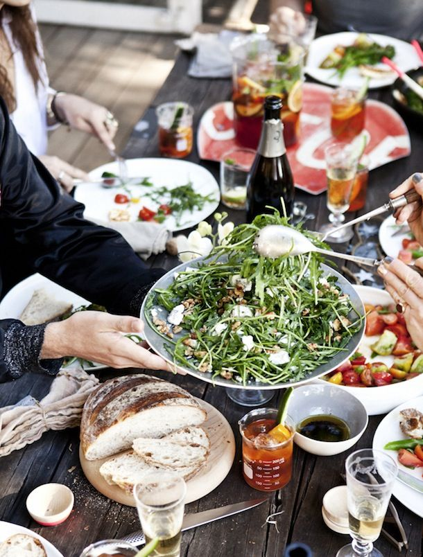 dinner party, what katie ate | Camille Styles