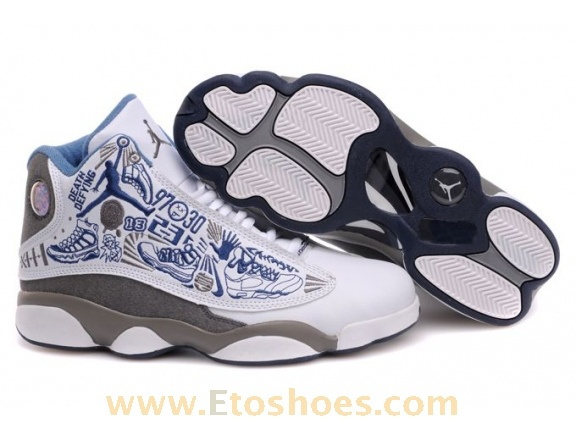 Nike Air Jordan 4 Womens Basketball Shoes White/Blue/GreyBest Discount Pricestable quality