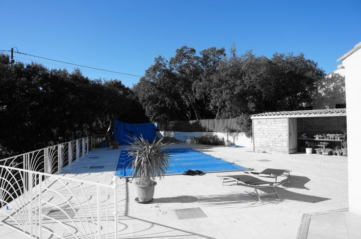 Hivernage piscine avec une b che barres http www for Bache piscine hiver