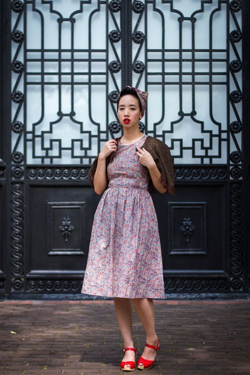 norafinds vintage fashion sydney summer floral