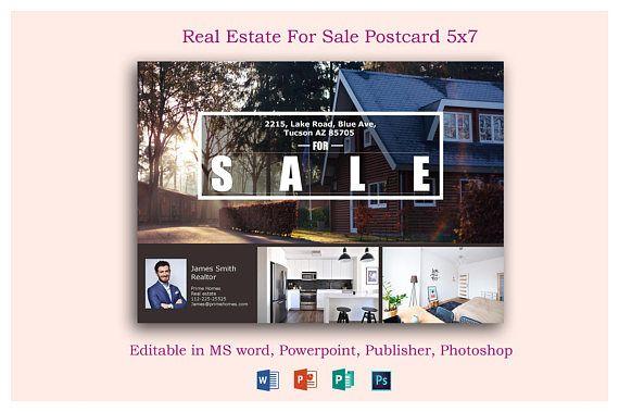 Real Estate Advertising Postcard Template  Editable in