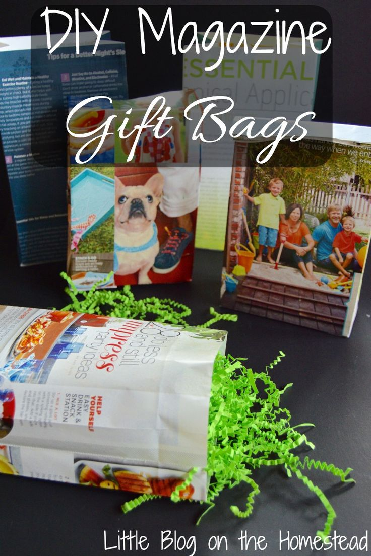The diy magazine gift bags are perfect for birthdays