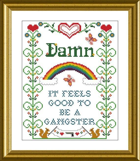 Awesome Office Space cross stitch pattern.