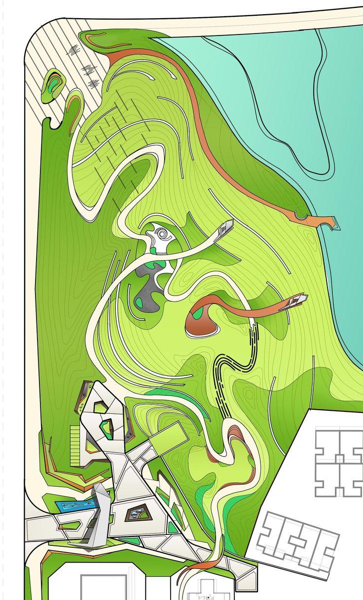 Sale's area landscape design... schematics ( m_oplado 2017/ Metrostudio)