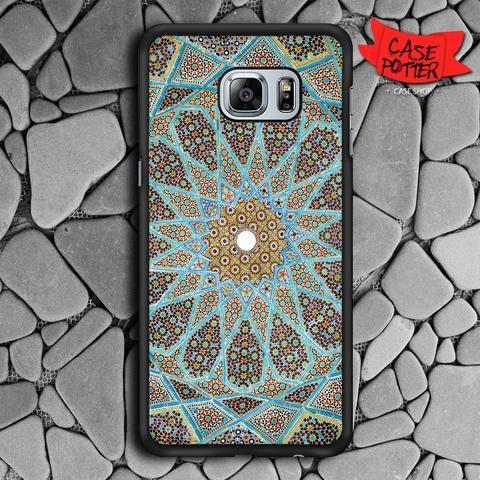 Mandala Pattern Art Samsung Galaxy S6 Edge Black Case