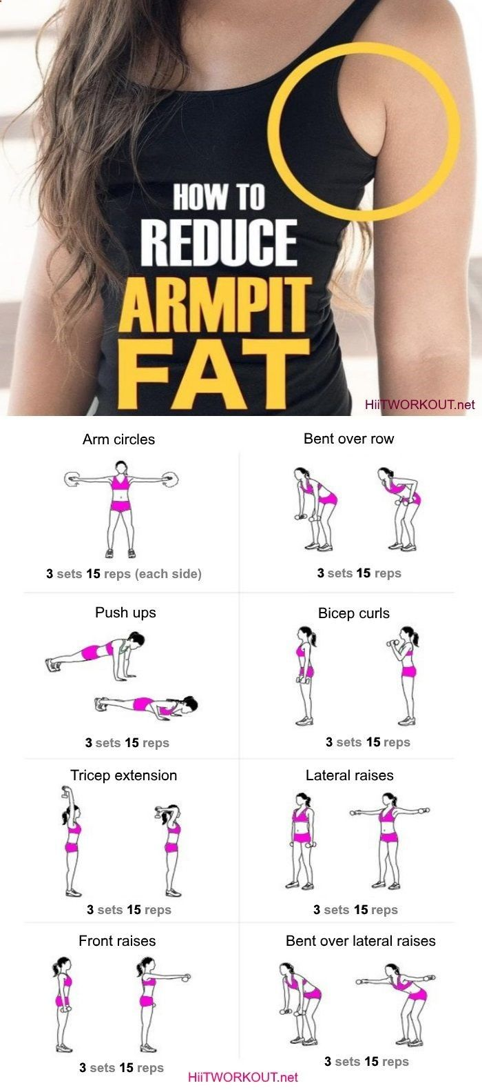 Effective Workout To Get Rid Of Armpit Fat Fast (Fat Loss Diet Fast)