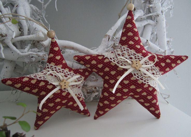 Weihnachts- Sterne  im Landhaus - Stil von Feinerlei auf DaWanda.com