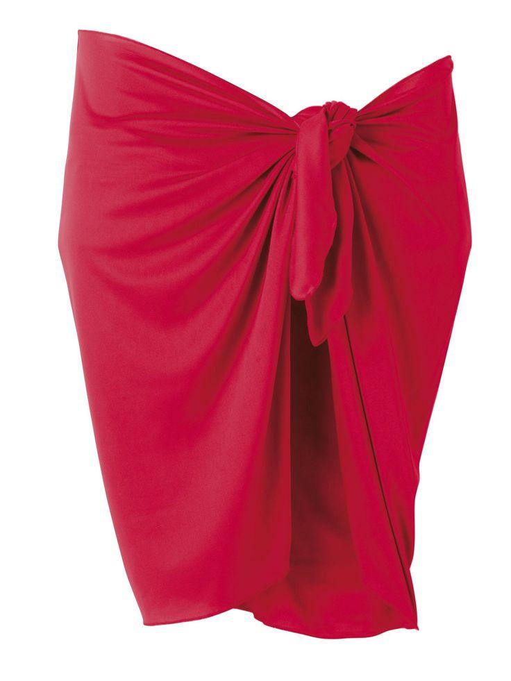 Rød sarong - Spanien 50kr