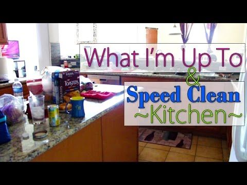 Speed Clean | Kitchen Cleaning Routine – YouTube