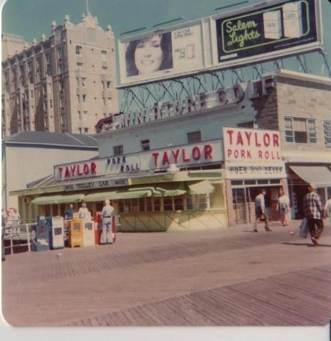 .Taylor Pork Roll on the boardwalk