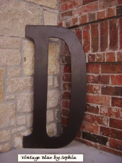 Distressed painted 3 foot tall wood letter by for 3 foot tall letters