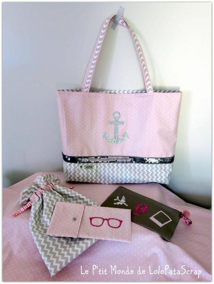 227 best images about sac de plage sac cabas on pinterest. Black Bedroom Furniture Sets. Home Design Ideas