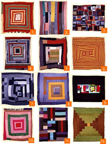 The quilts of Gee's Bend. A group of black women in a small, rural Alabama community made quilts that are considered works of modern art. All of the work is beautiful.