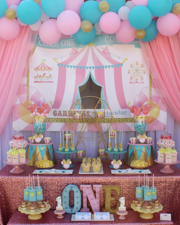 Girls Birthday Party Decorations Circus Birthday Party Theme Circus Birthday Party Circus 1st Birthdays