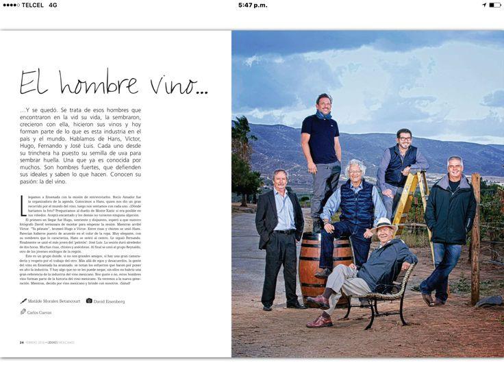 Felicidades Reynaldo Rodríguez (Aka) Hombre Vino. Y la revista líderes por considerar nuestro trabajo. Saludos del Valle Guadalupano.