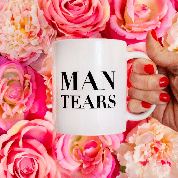 Man Tears - Coffee Mug - All Products are Customizable! by MISSWITHIT on Etsy https://www.etsy.com/listing/201419837/man-tears-coffee-mug-all-products-are