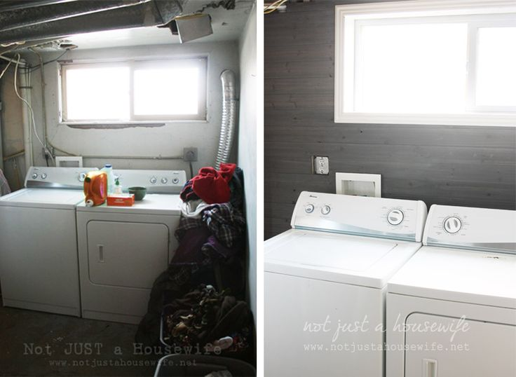 Wood planked walls stained gray!!! Come check out the before and after and see HOW to do it :)