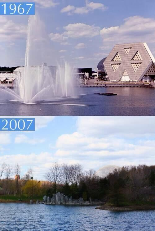 Expo 67 vs 2007 Le Lac des Cygnes. D'hier à aujourd'hui… #expo67 #montreal