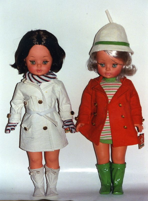two 60's Furga dolls / bambole ❤️ these dolls. I gave the brunette doll to my Mom and I display the blonde doll. I love their go-go boots!