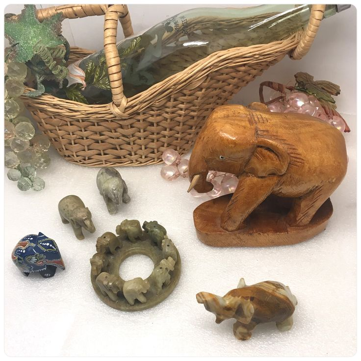 Elephant Collection made from Stone Wood and Incense