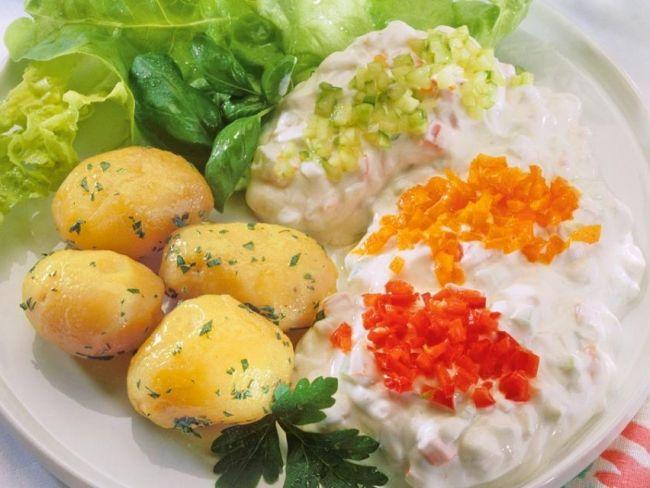 Wielkopolskie pyry z gzikiem, ziemniaki, dania główne, dania wegetariańskie, gzik