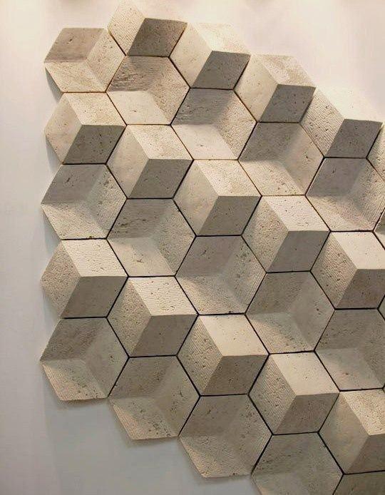 Assemblage Bois Hexagone : Geometric Wall Tile Texture
