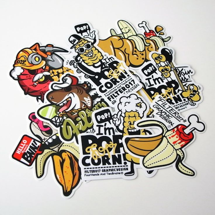 Custom sticker designs 35 creative samples for inspiration