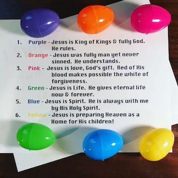Something new other than Resurrection eggs - An Easter Egg Hunt Bible Object Lesson!