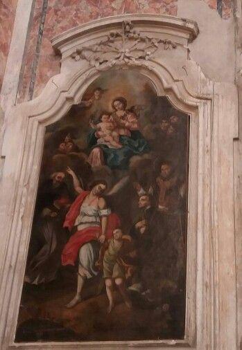 Madonna con Bambino e Santi  olio su tela _  Romano da Laurenzana  1795 FERRANDINA  CHIESA MATRICE DI S.  MARIA DELLA CROCE