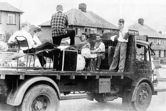 1957. John Lennon and The Quarrymen. John Lennon first formed in 1956, with Pete Shotton, the skiffle/rock and roll group the Back Jacks, which he later converted into The Quarrymen. Lennon meets Paul McCarthey for the first time during a performance of the group at the St. Peter's Church in Liverpool. Paul joined the group on July 20, 1957 #Beatles #TheQuarrymen #1957