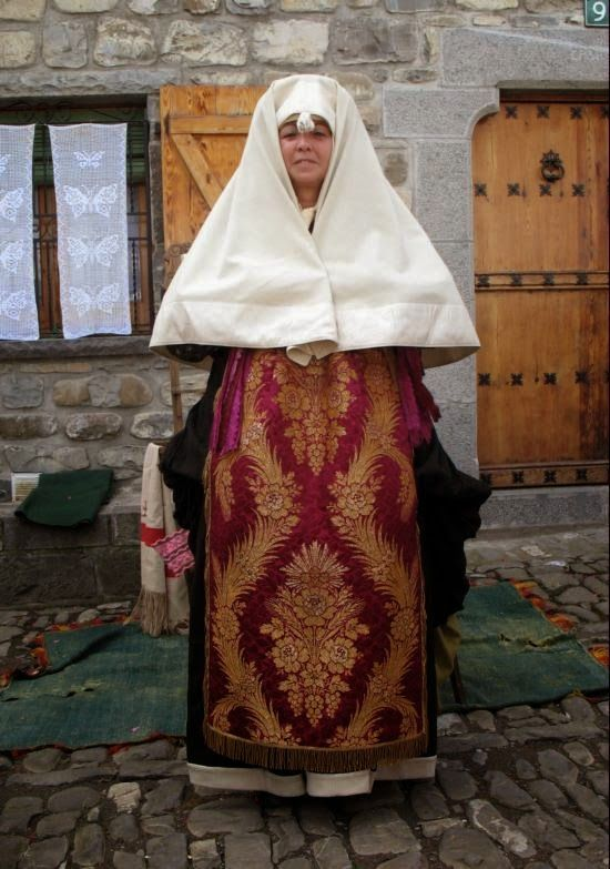Costume of the Anso valley, Aragon, Spain