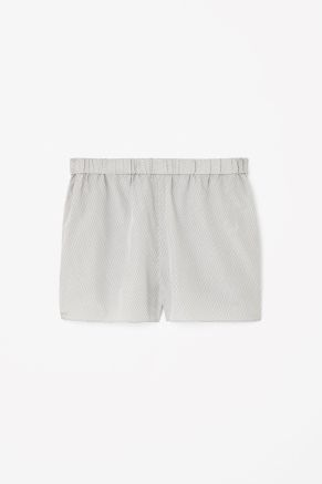 Silk and cotton shorts