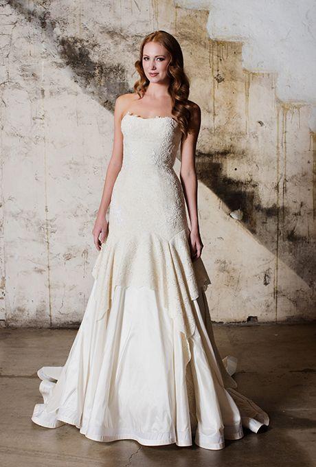 Brides.com: . Wedding dress by Tara LaTour