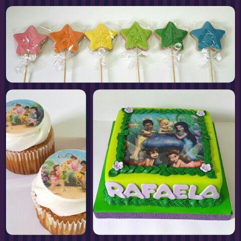 Combo Hadas Disney • Cake ~ Cupcakes ~ Galletas #pritycakes #cakes #Cupcakes #galletas #HadasDisney