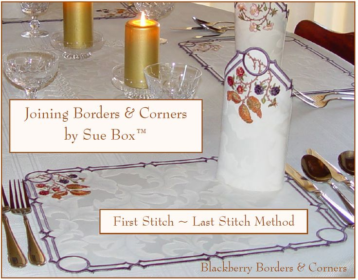 Joining Corners and Borders project notes by Sue Box