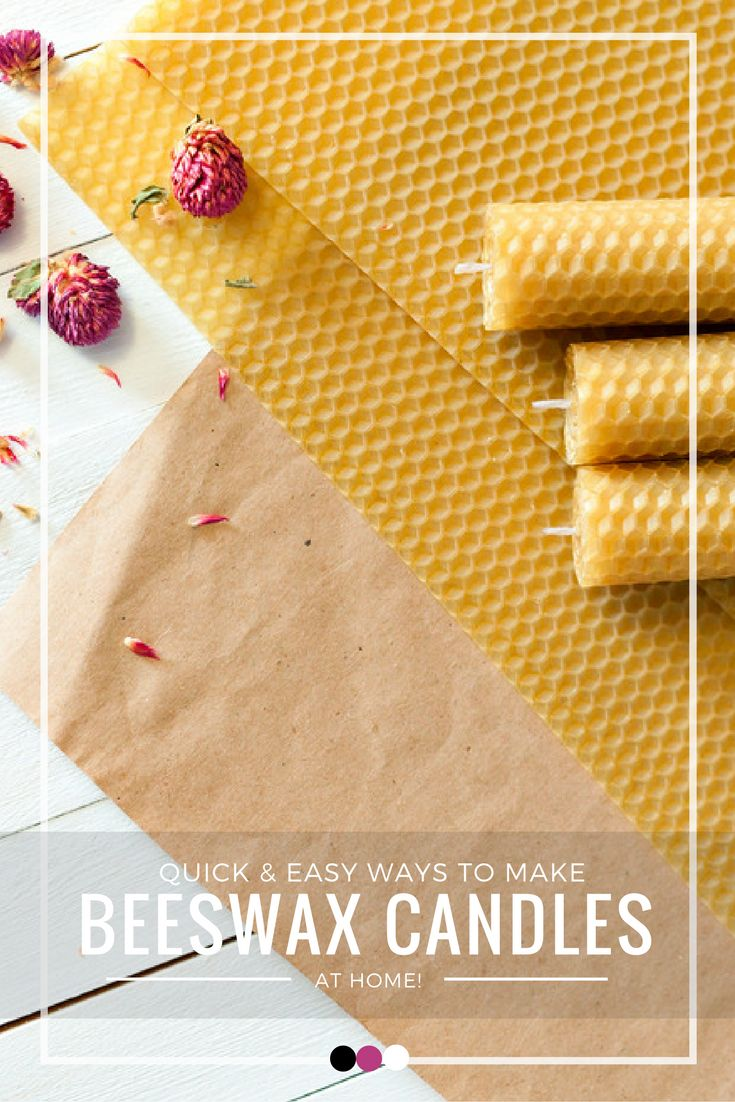 Your ultimate guide on how to make beeswax candles at home!